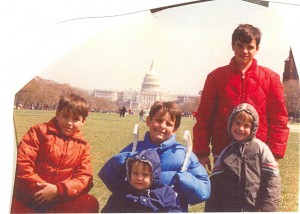 On a family field trip in 1992.
