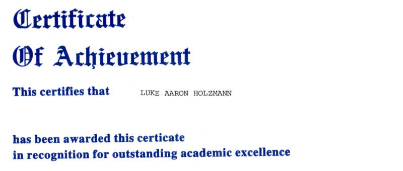Academic-Certificate
