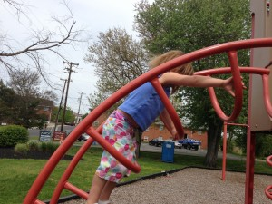 Fun at the park with one of my granddaughters.