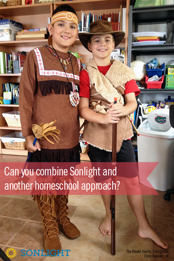 Can you combine Sonlight and another homeschool approach? • Although Sonlight is a robust homeschool approach in its own right, you can combine Sonlight with a wide range of homeschool philosophies and styles.