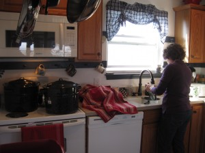 Applesauce 13, Jenny in kitchen