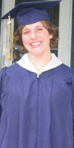 My daughter-- A Sonlight graduate heading to college.
