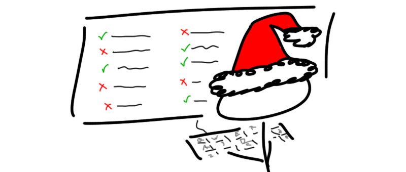 Checking-Christmas-List
