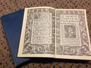 1906 edition of Sir Thomas Malory's Le Morte D'Arthur