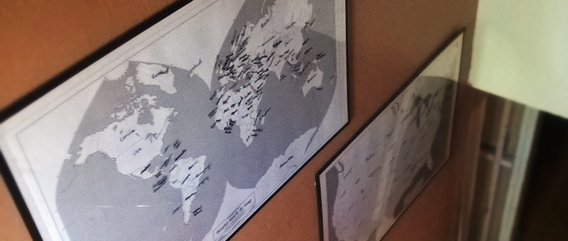 Wall-Maps