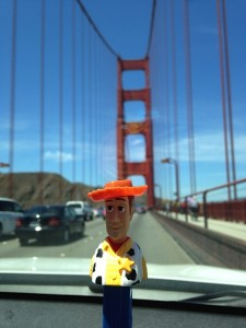 Woody PEZ on the Golden Gate Bridge