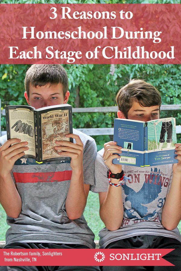 3 Reasons to Homeschool During Each Stage of Childhood -- preschool, elementary, middle school, and high school