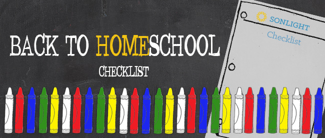 Back to Homeschool Checklist