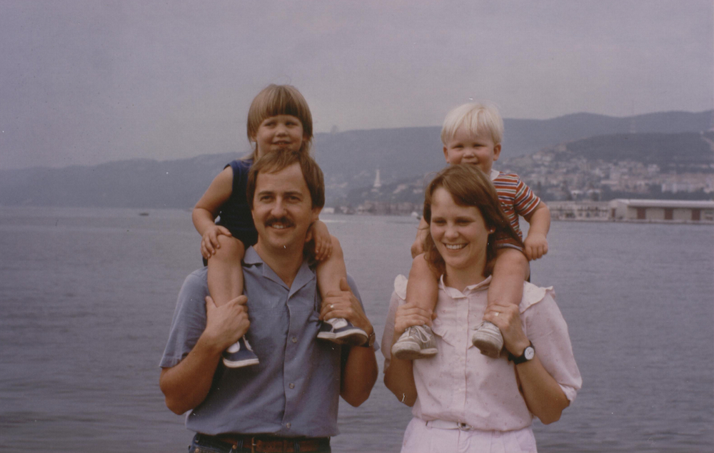 My family visiting Trieste, Italy during the time we lived in the former Yugoslavia