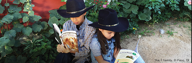 """The Sonlight books have cracked wide open a love for literature in the hearts of my children.  –John F of El Paso, TX"