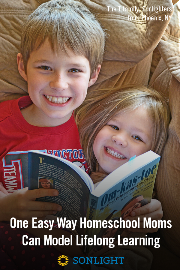 One Easy Way Homeschool Moms Can Model Lifelong Learning