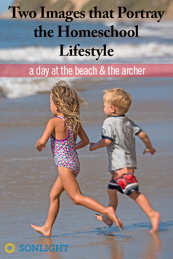 Two Images that Portray the Homeschool Lifestyle: a Day at the Beach and the Archer