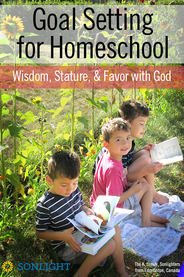 Balanced Goal Setting for Homeschool based on Luke 2:52: Wisdom, Stature, and Favor with God