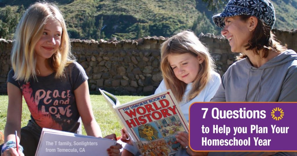 7 Questions to Help you Plan Your Homeschool Year
