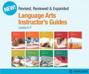 Totally Revised, Reviewed and Expanded Language Arts Instructor's Guides for Levels K through F • Sonlight Christian homeschool curriculum