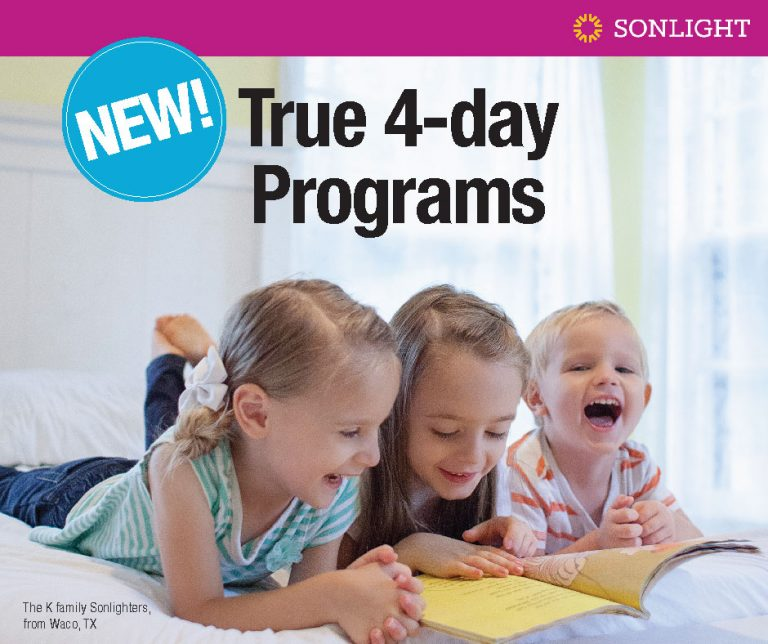 Sonlight's New, True 4-Day programs