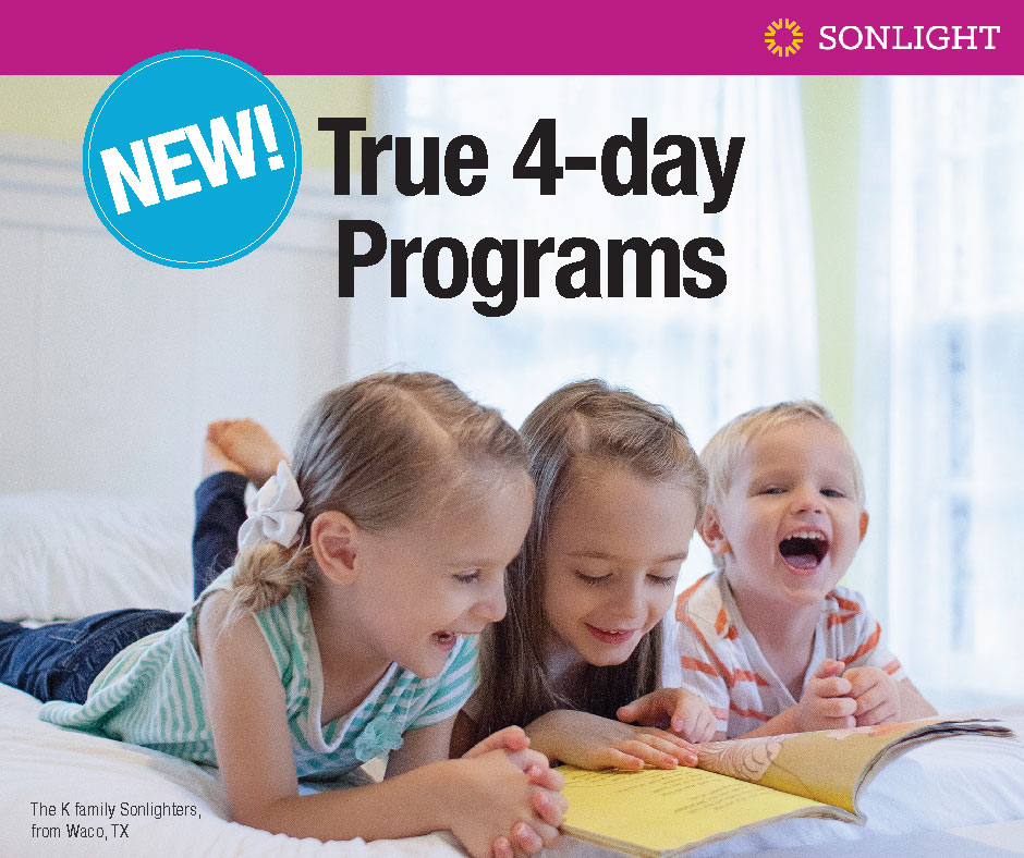Sonlight's New, True 4-Day programs • homeschool curriculum