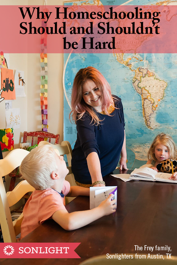 Why Homeschooling Should and Shouldn't be Hard • Although homeschooling may sometimes be hard for legitimate reasons, many common frustrations are completely avoidable with the right curriculum choice.