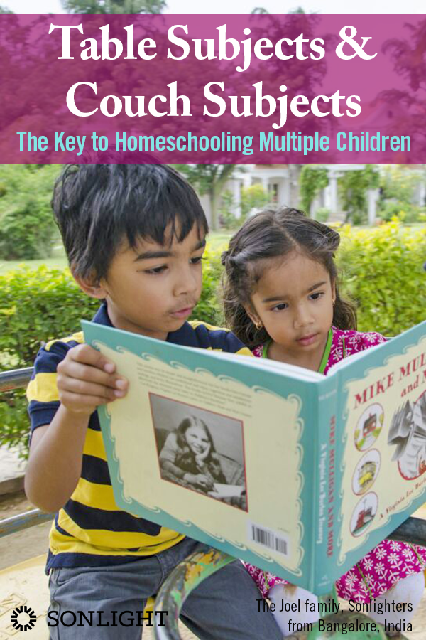 Table Subjects and Couch Subjects: The Key to Homeschooling Multiple Children