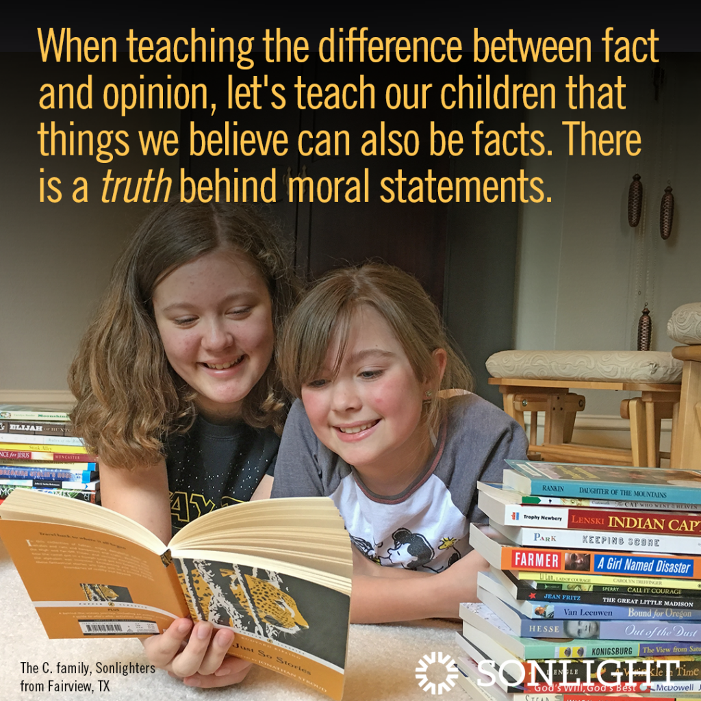 How NOT to Teach the Difference Between Fact and Opinion: A Lesson in Moral Relativism | Let's teach our children that things we believe can also be facts. There is a truth behind moral statements.