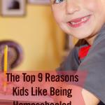 The Top 9 Reasons Kids Like Being Homeschooled | reasons to homeschool | benefits of homeschooling