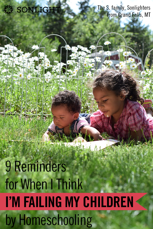 Nine Reminders for When I Think I'm Failing My Children by Homeschooling • homeschool doubts