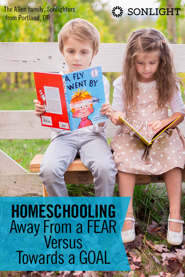 Homeschooling Away From a Fear Versus Towards a Goal • Escaping a fear may be a good initial motivation, but it doesn't help you maintain the course in the long-term. Choose positive goals to homeschool towards.
