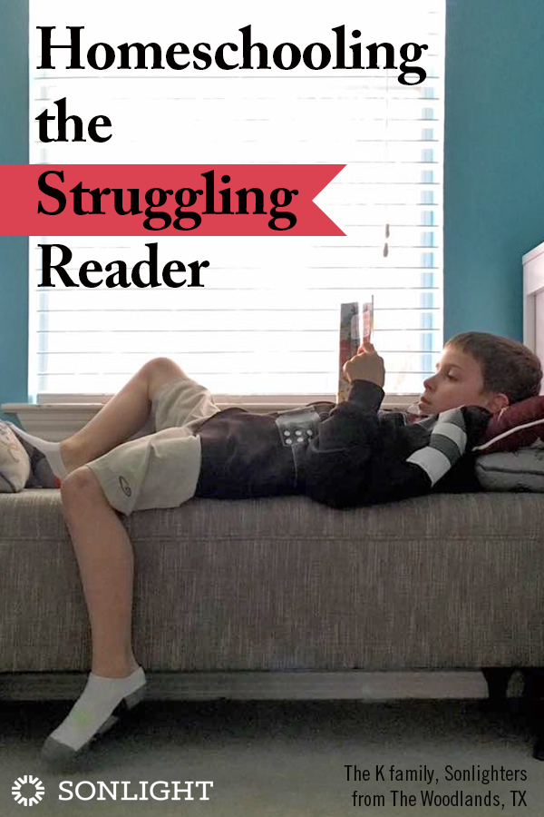 Homeschooling the Struggling Reader • Homeschooling allows us to keep moving forward with learning rather than holding kids back because they are struggling readers.