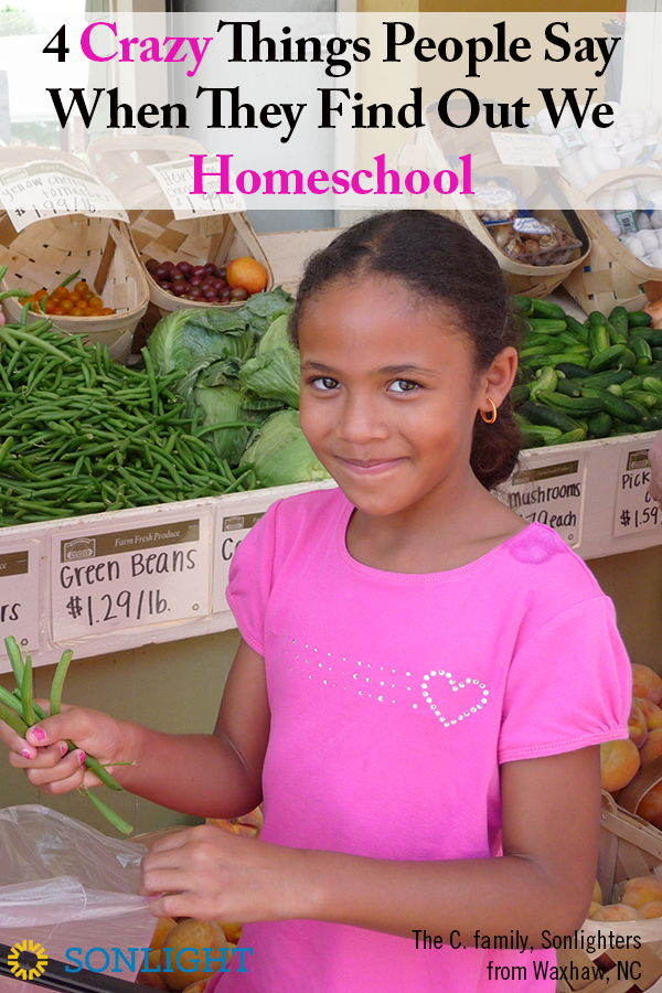 4 Crazy Things People Say When They Find Out We Homeschool