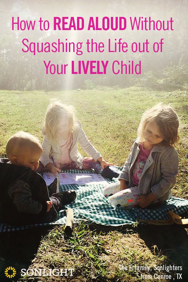 How to Read Aloud without Squashing the Life Out of Your Lively Child • homeschool reading tips