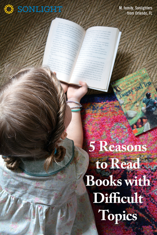 5 Reasons to Read Books with Difficult Topics • homeschool reading • choosing books for homeschool