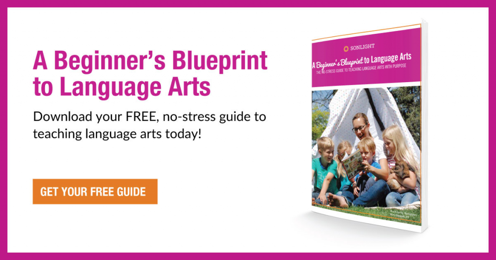 A Beginner's Blueprint to Language Arts: The No-stress Guide to Teaching Language Arts with Purpose