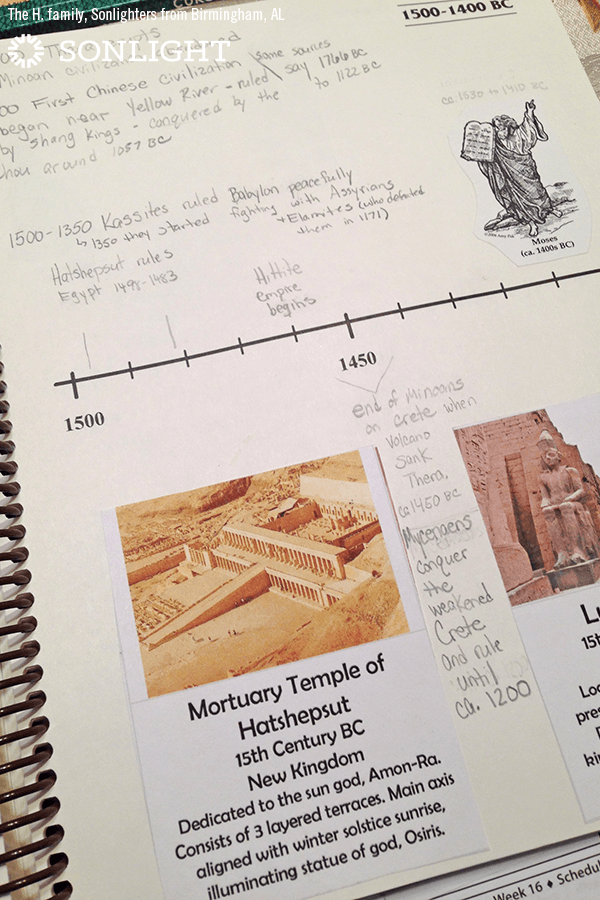 A Photo Tour of The Timeline Book & Tips for a Timeline Notebook • #homeschooling history