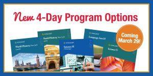 NEW 4-Day Program Options New in Sonlight's 2018 catalog