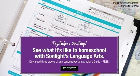 Sonlight Language Arts free samples