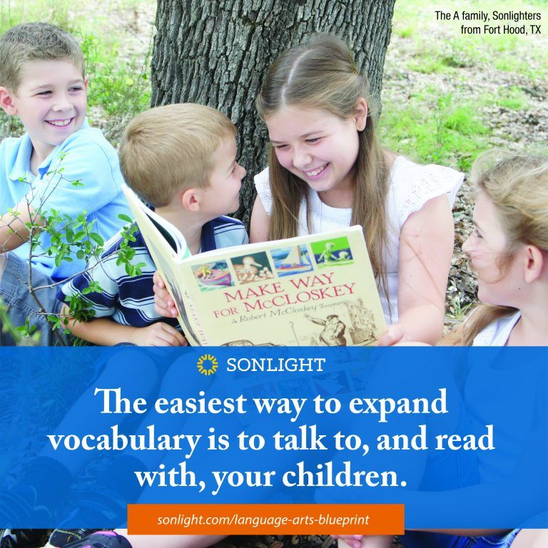 The easiest way to expand vocabulary is to talk to, and read with, your children.