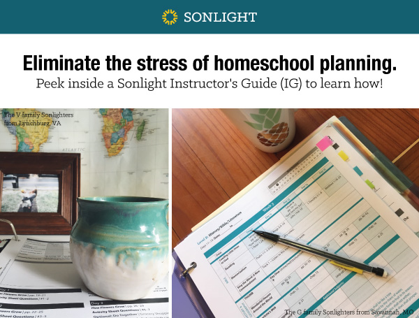 Eliminate the stress of homeschool planning. Peek inside a Sonlight Instructor's Guide.
