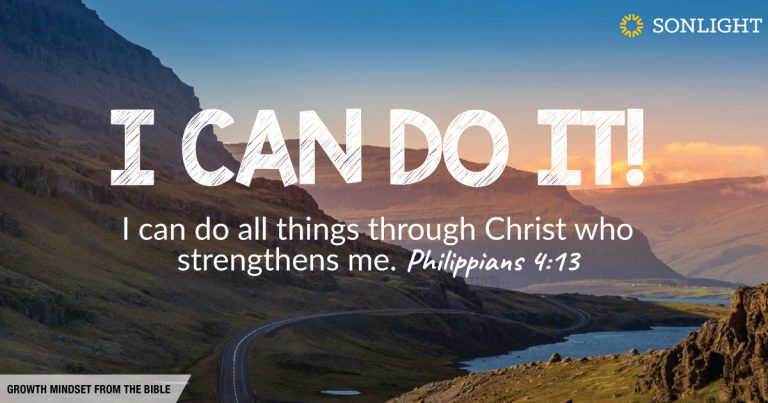 I can do it! Growth Mindset from the Bible