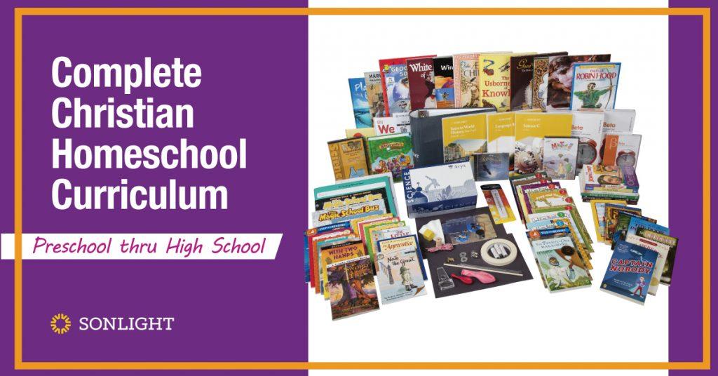 Complete Christian Homeschool Curriculum for Preschool to High School