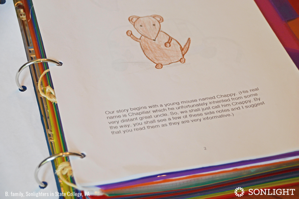 How to Create a Family Anthology of Your Child's Creations • Story about a mouse named Chappy.