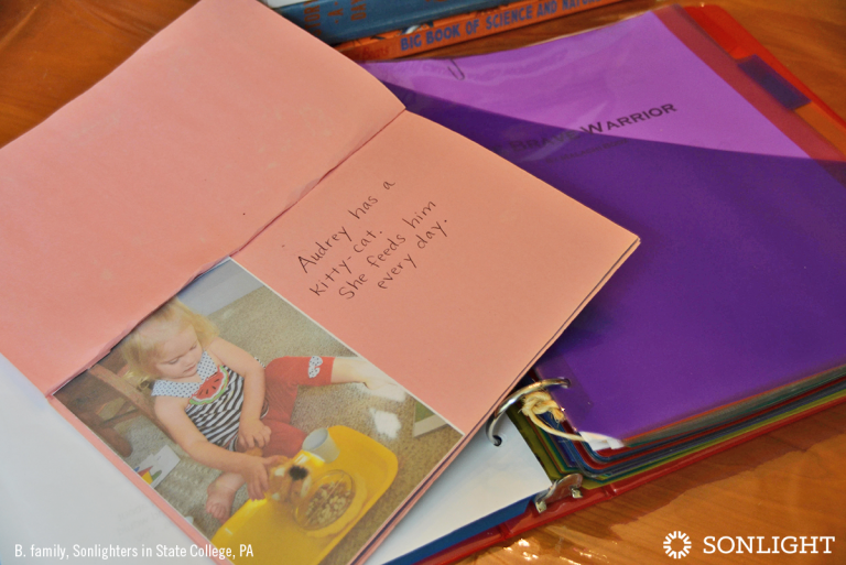 How to Create a Family Anthology of Your Child's Creations • Audrey has a kitty cat story