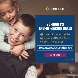 Shop Sonlight's End-of-Season Special Offers through March 31