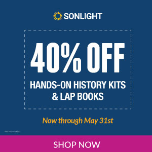 40% off hands-on history project kits and lapbooks - MAY EXCLUSIVE